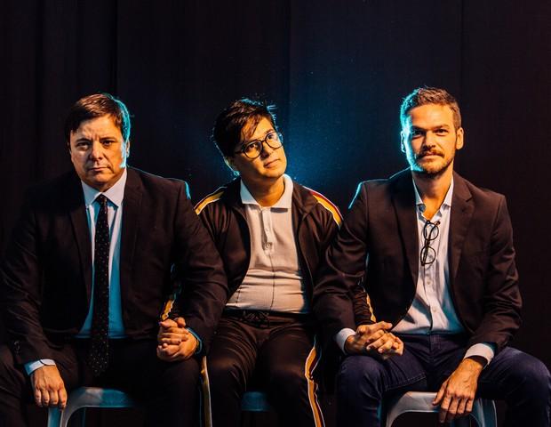 Thelmo Fernandes, Omar Menezes e Emilio Dantas (Foto: Elisa Mendes)