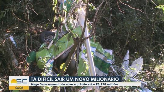 Corpo de piloto que morreu em queda de aeronave é velado em Concórdia