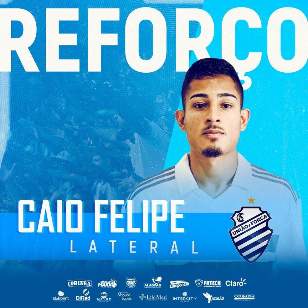 Lateral Caio Felipe, reforço do CSA — Foto: Divulgação/Ascom CSA