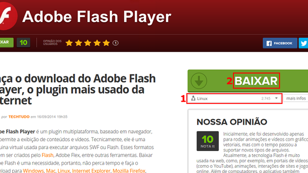 Adobe flash player download techtudo stopboris Image collections