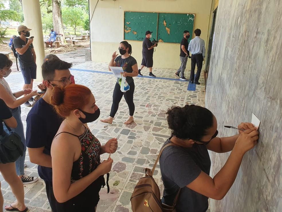 Florianópolis foi uma das cidades que registraram caso de sala lotada — Foto: Diogenes Pandini/NSC