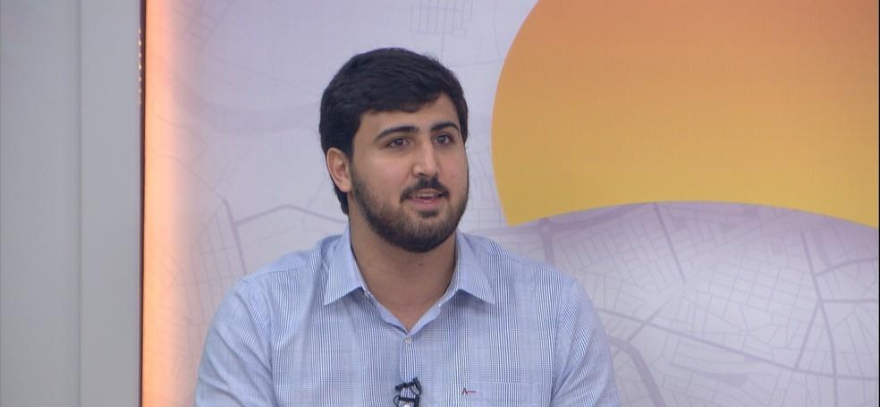 Emanuel Pinheiro Neto (PTB), candidato a prefeito de Várzea Grande — Foto: TV Centro América