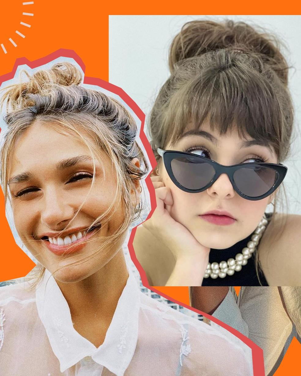 Sasha Meneghel e Klara Castanho usam coque como penteado no verão — Foto: @PraVcArrasar