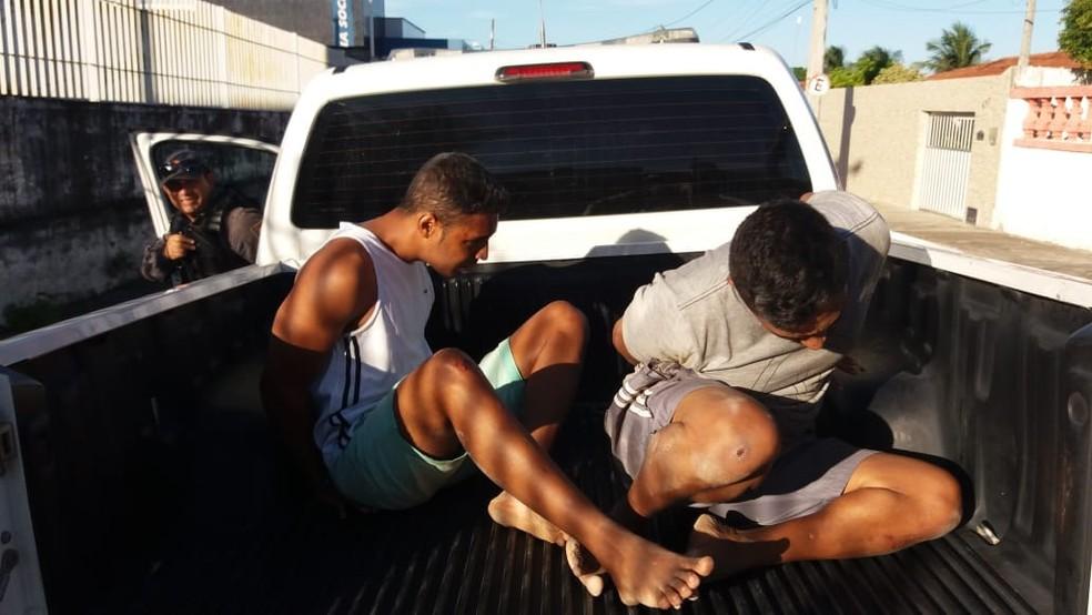 Foragidos da Cadeia Pública de Natal são recapturados em Extremoz (Foto: Divulgação/PM)