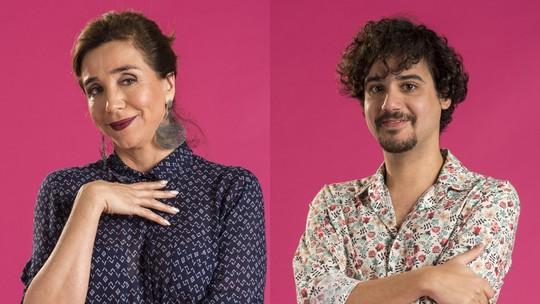 Marisa Orth e George Sauma celebram reencontro na TV: 'Um karma maravilhoso'