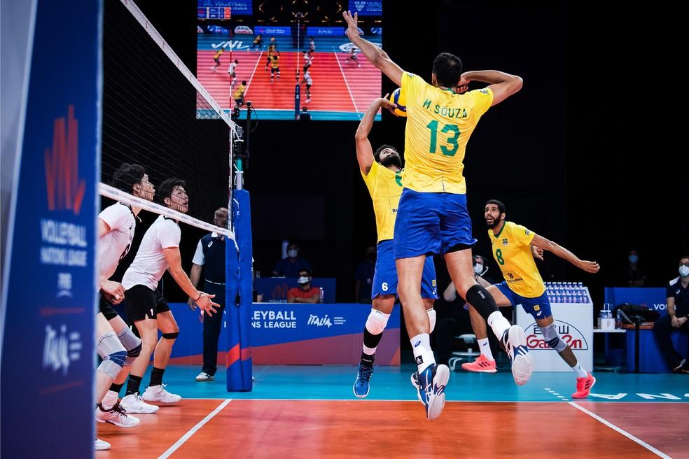 Brasil dominou as disputas na rede — Foto: Divulgação/FIVB