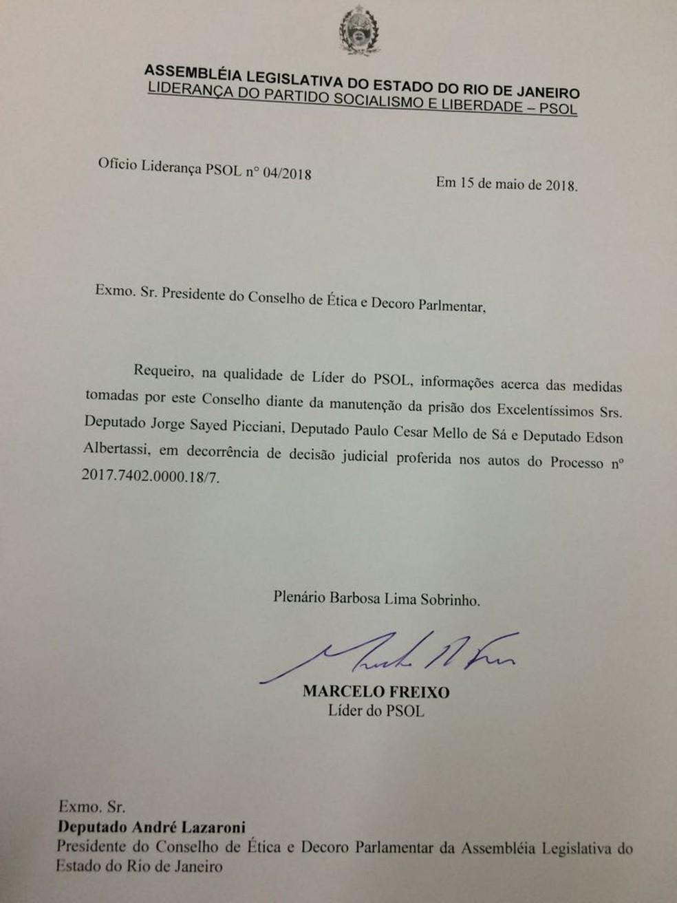 Deputado protocola pedido de informações sobre pedido de cassação de parlamentares do MDB (Foto: Reprodução)