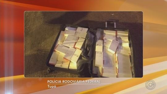 Homem é preso com 160 celulares contrabandeados e R$ 73 mil em Tupã