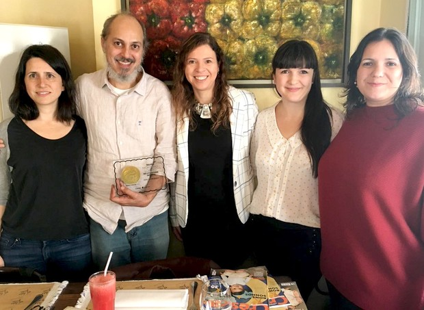 Carolina Moreyra, Odilon Moraes, Ana Paula Pontes e Malu Echeverria (Foto: Crescer)