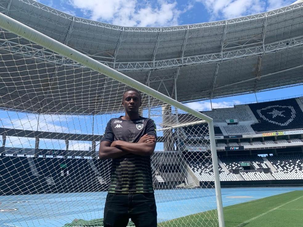 Andrew, goleiro do sub-20 do Botafogo  — Foto: Emanuelle Ribeiro/ge