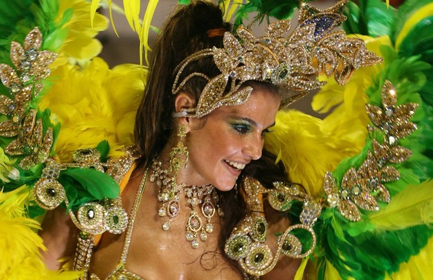 Deborah Secco, pela Grande Rio (2007) (Foto: Arquivo O Globo)