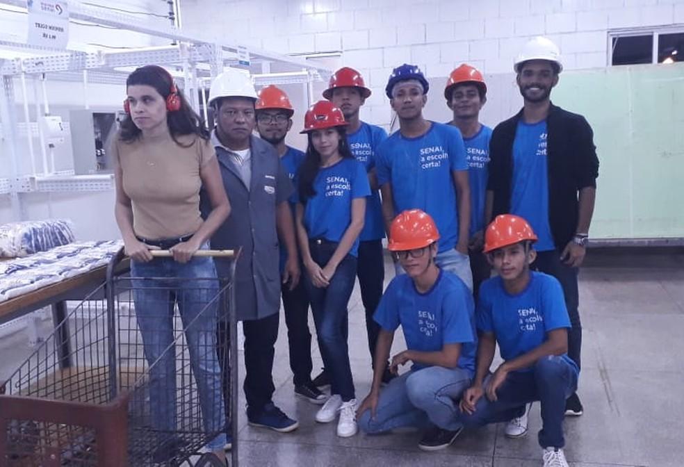 Turma de Eletricidade Industrial desenvolveu projeto em 6 meses — Foto: Rafaela Bittencourt/Rede Amazônica