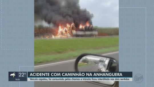 Concessionária confirma a morte de motorista de caminhão que explodiu na Rodovia Anhanguera