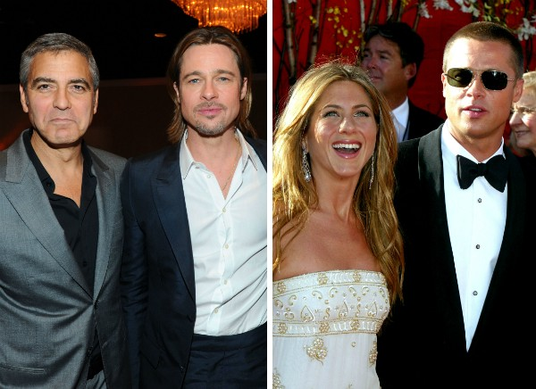 George Clooney, Brad Pitt e Jennifer Aniston (Foto: Getty Images)