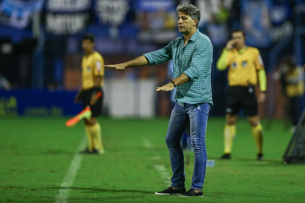 Renato admitiu Grêmio muito abaixo de sua equipe — Foto: Lucas Uebel/Grêmio