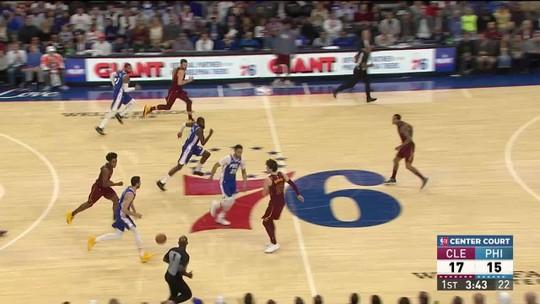 76ers levam susto, mas reagem e vencem os Cavaliers com cravada de Embiid no fim da partida