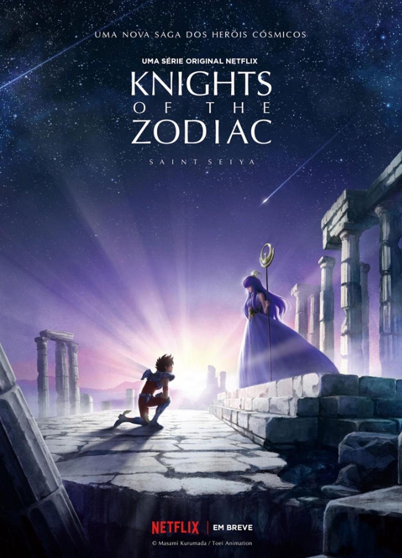 Cartaz do anúncio da nova série de 'Os Cavaleiros do Zodíaco' (Foto: Divulgação/Netflix)