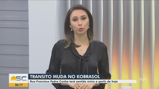 Rua Francisco Pedro Cunha, de São José, terá alteração a partir de terça-feira
