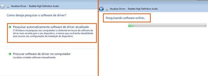 Será feita uma busca e download do driver mais recente do Realtek para Windows 7 (Foto: Reprodução/Barbara Mannara)