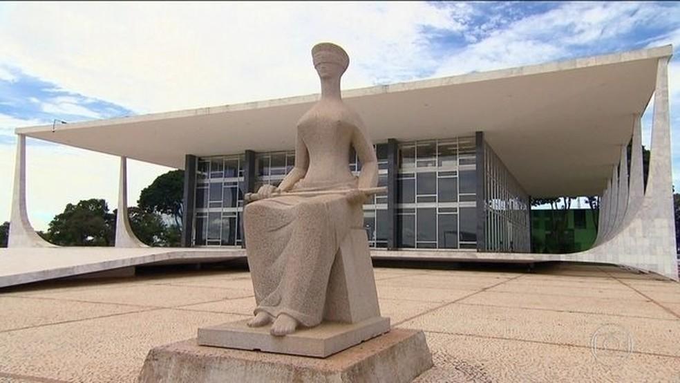 Fachada do STF, em Brasília — Foto: Reprodução/JN