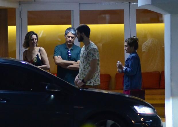 William Bonner, Natasha Dantas, Vinicius e Thalita (Foto: AgNews)