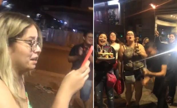 Marília Mendonça com fãs (Foto: Reprodução/Instagram)