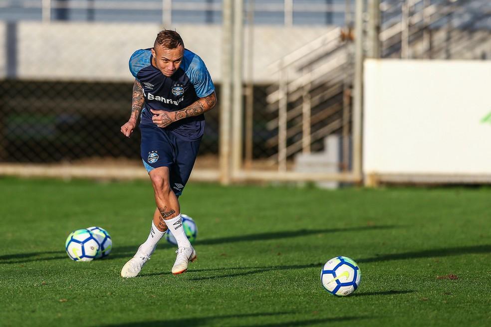 Everton soma 2625 minutos na temporada  (Foto: Lucas Uebel / Grêmio, DVG)