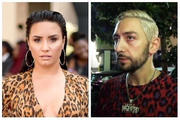 Demi Lovato e Brandon Johnson (Foto: Getty Images e Reprodução/TMZ)