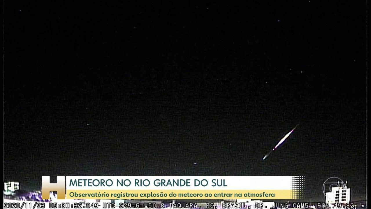 Observatório registra explosão de meteoro no Rio Grande do Sul