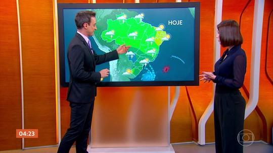 Previsão é de chuva nesta segunda-feira em boa parte do Centro-Oeste