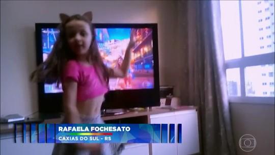 'Criança Dança': envie um vídeo do seu filho dançando, ele pode aparecer no 'Domingão'!