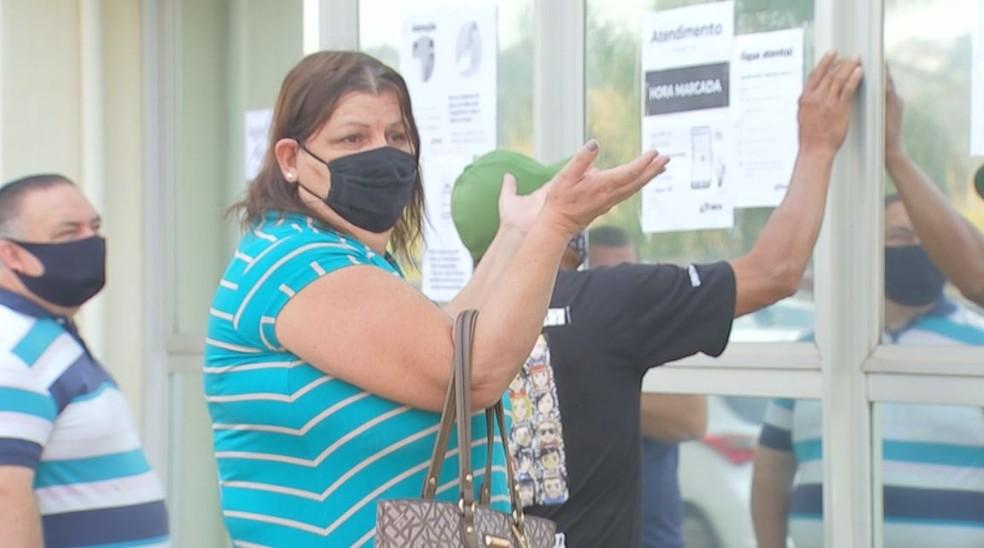 Rosângela saiu de Agudos para realizar a perícia agendada para esta segunda-feira em Bauru  — Foto: TV TEM/ Reprodução