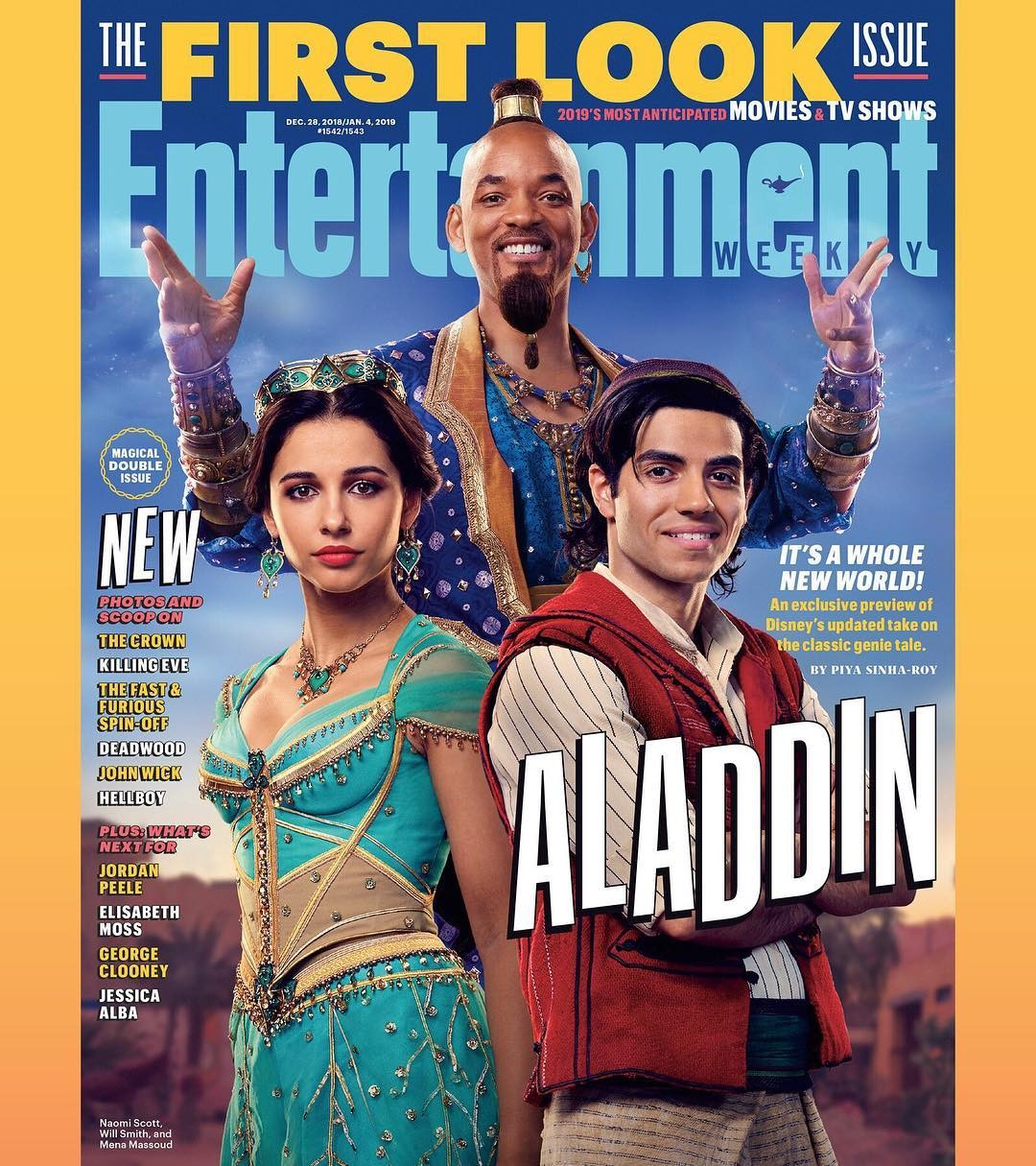 Primeiro cartaz com os atores da live-action de Aladdin (Foto: Entertainment Weekly)