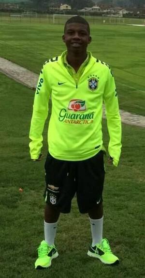 Lincoln Correa, atacante capixaba do Sub-15 do Flamengo (Foto: Arquivo Pessoal)