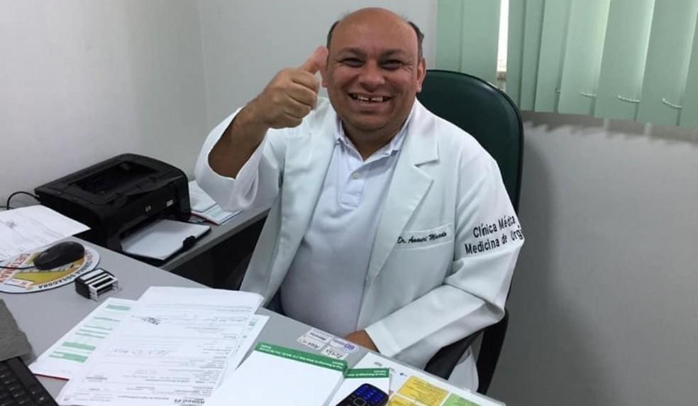 José Amauri de Sousa Macedo era médico e atuava na linha de frente contra o coronavírus em Imperatriz (MA) — Foto: Divulgação/Redes sociais