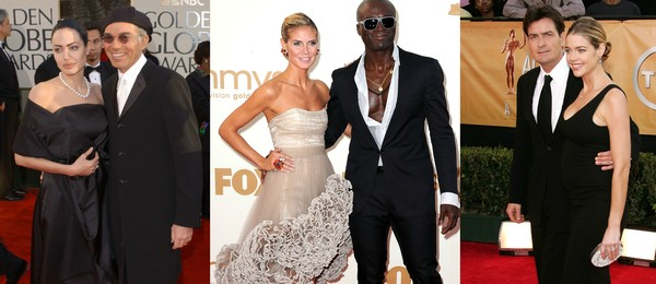 Angelina Jolie e Billy Bob Thorton, Heidi Klum e Seal e Charlie Sheen and Denise Richards: amigos (Foto: Getty Images)
