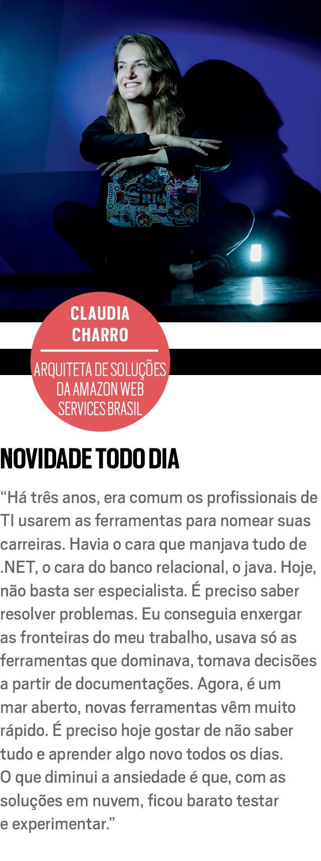 CLAUDIA CHARRO, arquiteta de soluções da Amazon Web Services Brasil  (Foto: Anna Carolina Negri)