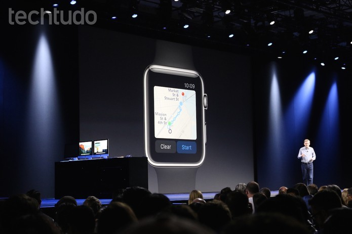 O novo Apple Maps também funcionará com o Apple Watch (Foto: Fabrício Vitorino/TechTudo)