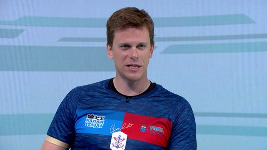 """Cesar Cielo participa do Grande Círculo e comenta ouro olímpico de 2008: """"Eu sabia que ia ganhar"""""""