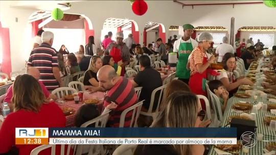 Tradicional almoço 'De La Mamma' movimenta Festa da Cultura Italiana em Porto Real