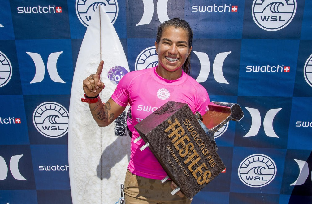 Silvana Lima é uma das beneficiadas pelo projeto (Foto: WSL / KENNETH MORRIS)
