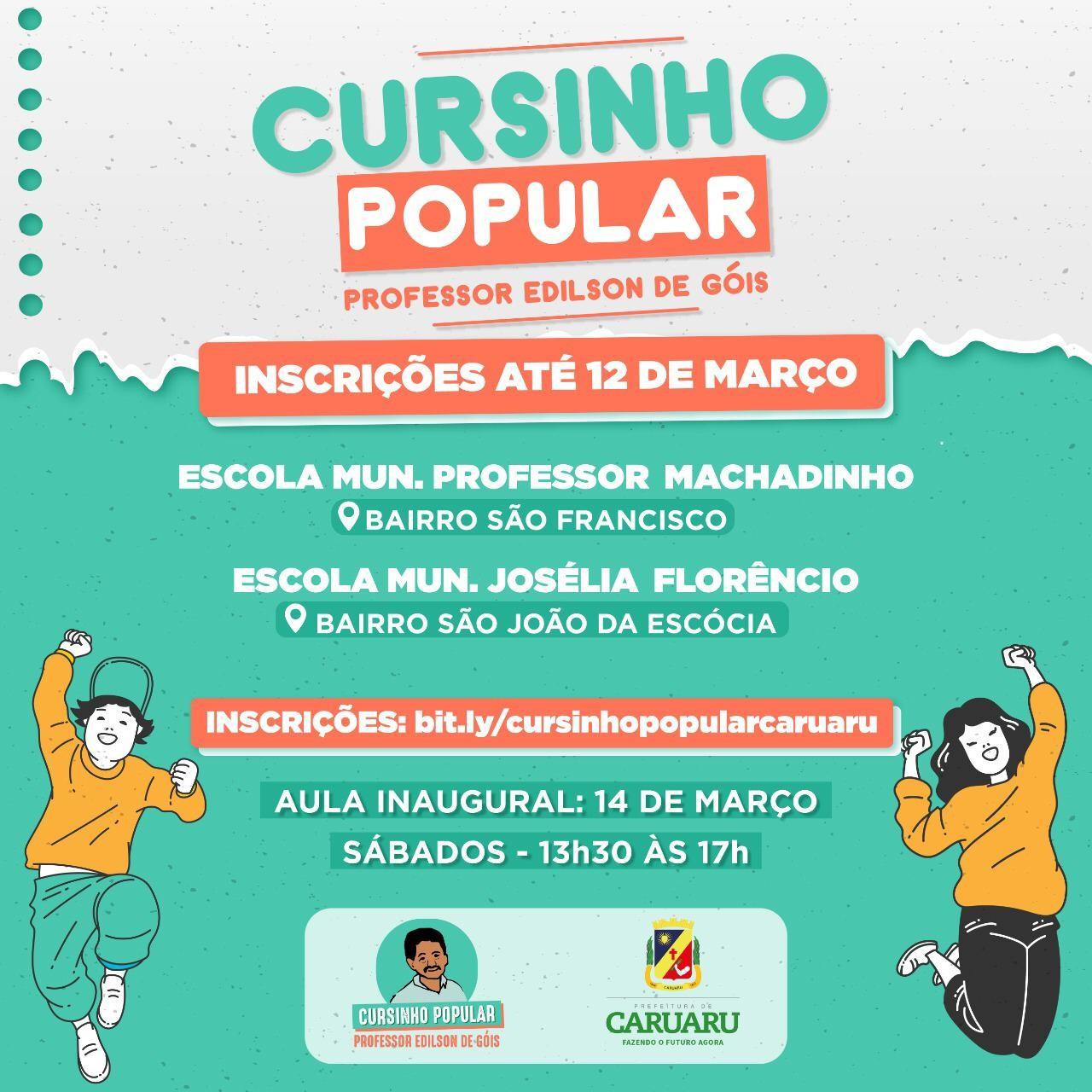 Secretaria de Educação abre inscrição para Cursinho Popular em Caruaru
