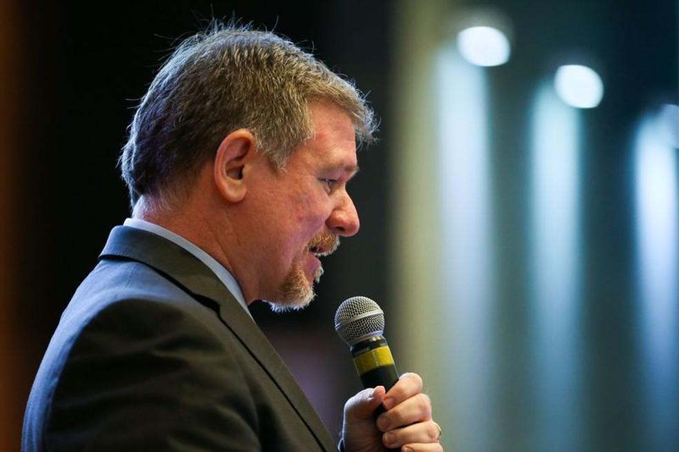 Jorge Werneck durante fala representando a Adasa (Foto: Agência Brasil/Reprodução)