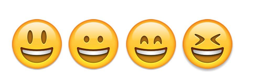 São vários os emojis sorridentes para expressar alegria — Foto: Reprodução/TechTudo