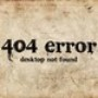 Papel de parede: 404 error