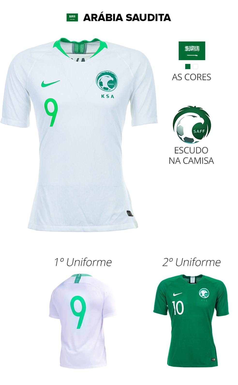 d792c1d1f6 Conheça as camisas das 32 seleções da Copa do Mundo da Rússia