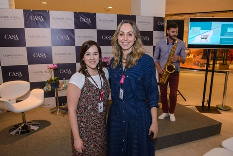 Julia Lins e Ariadne Lelis do marketing do Fashion Mall