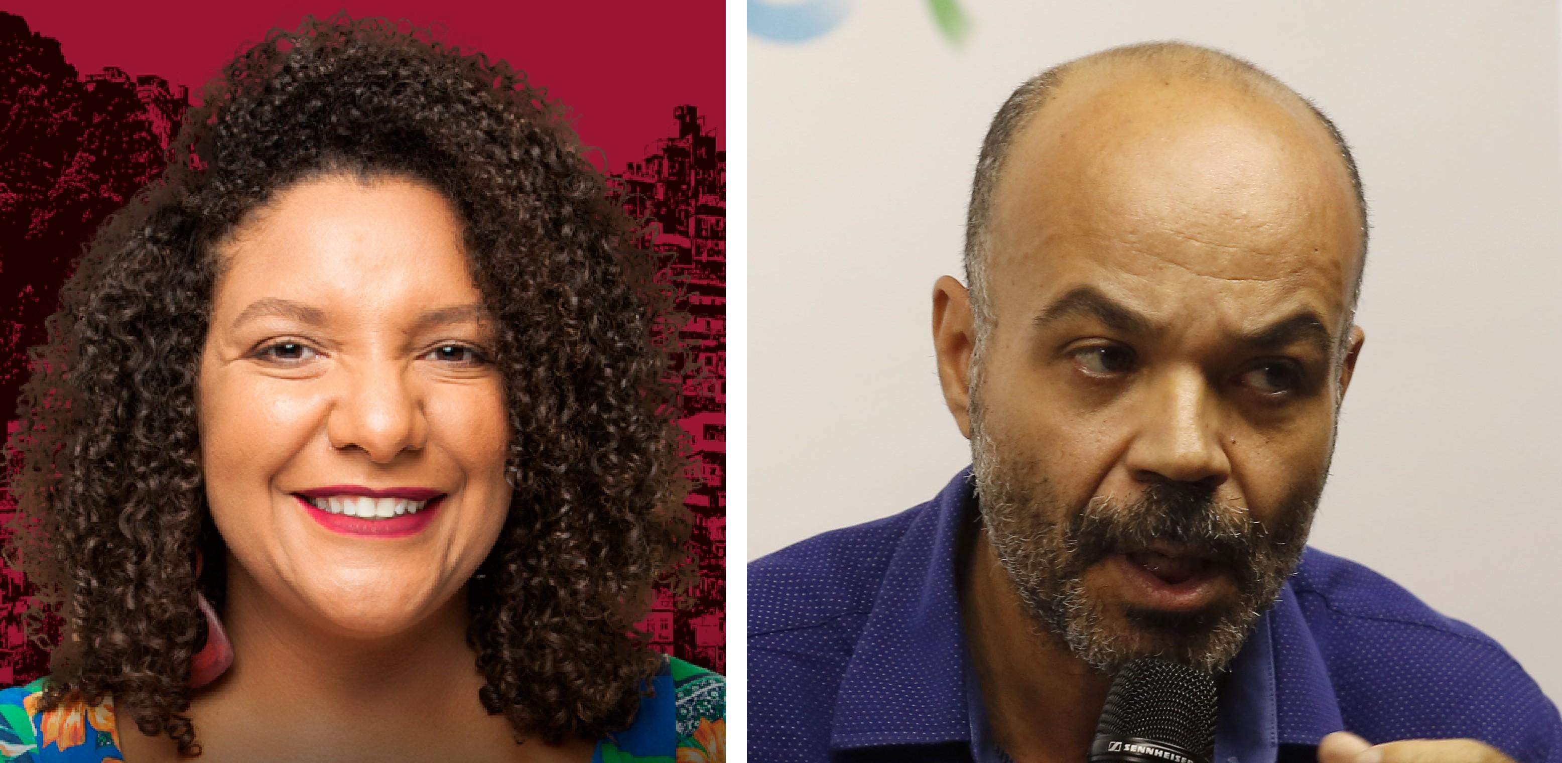 Renata Souza e coronel Ibis Pereira