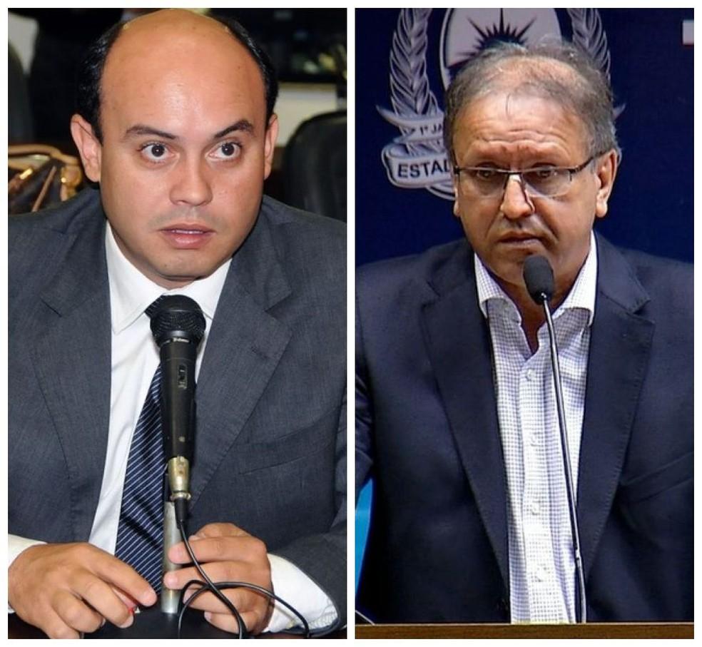 Sandoval Cardoso e Marcelo Miranda são alvos de uma ação civil do Ministério Público — Foto: Arte G1