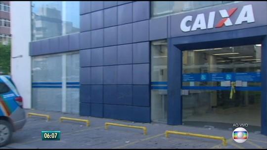 Bandidos tentam arrombar cofre de agência da Caixa Econômica no Grande Recife